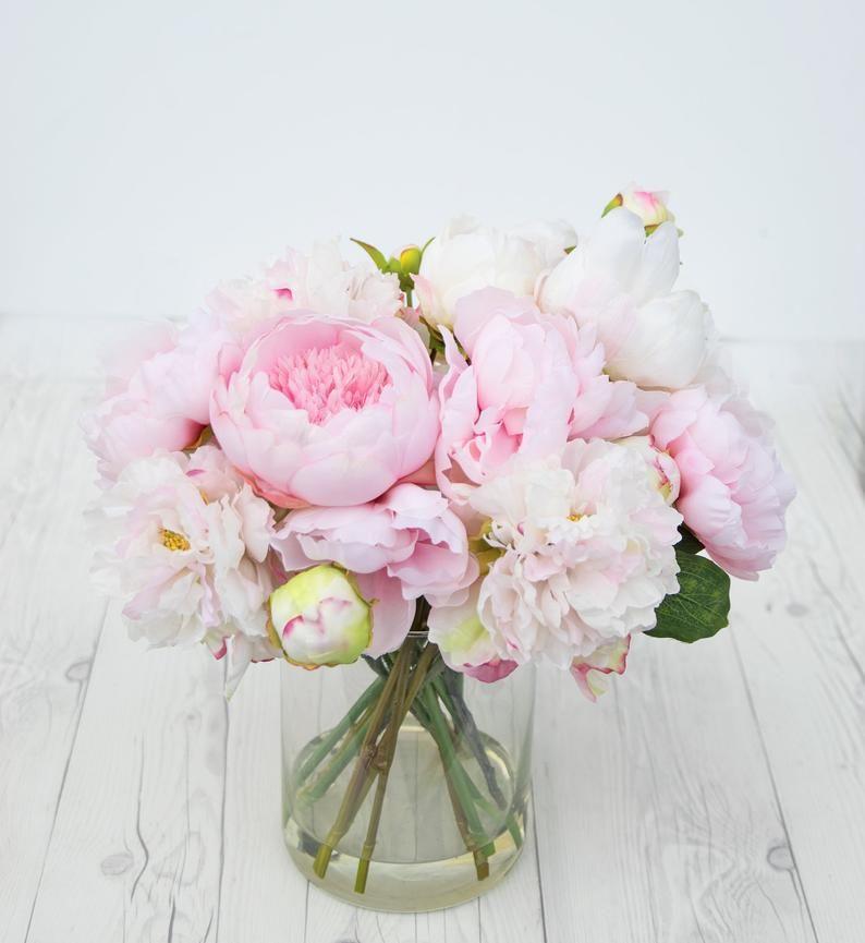 Peony Centerpiece Pink Peony Silk Centerpiece Peony Arrangement Peony Table Flower Centerpiece Silk Peony Home Flower Centerpiece In 2020 Peony Arrangement Peonies Centerpiece Flower Arrangements
