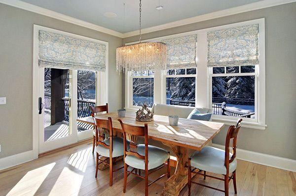 20 Dining Room Window Treatment Ideas  Interior Designing Room Awesome Dining Room Window Treatments Design Ideas