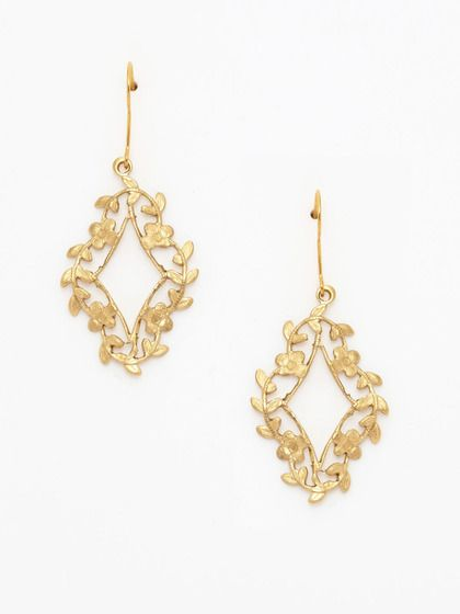 Eddera Ethereal Vine Earrings. These have a beautiful old-world-meets-new feeling to them. I could easily see them being a favorite part of my collection!