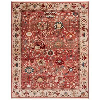 Safavieh Kashan Red Beige 8 Ft X 10 Area Rug Cool