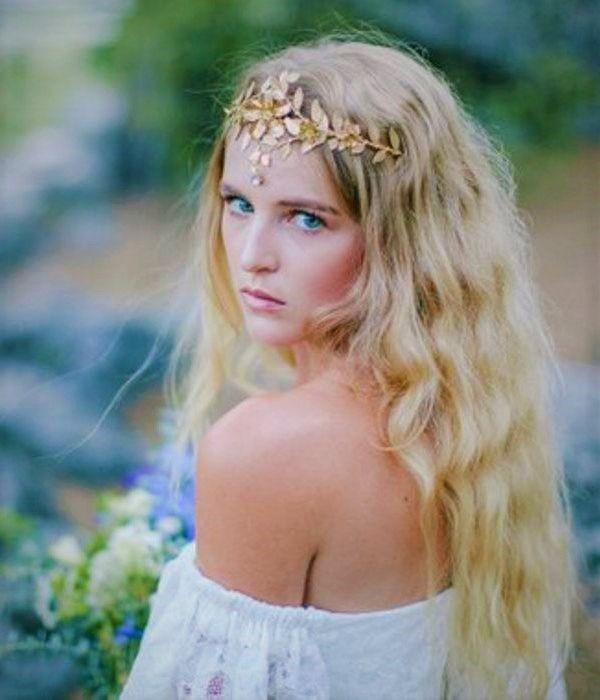Boho Leaf Headband, Leaf Halo, Gold Leaf Headdress, leaf crown, bridal tiara, Gold Leaf Headband, boho, Bohemian #leafcrown