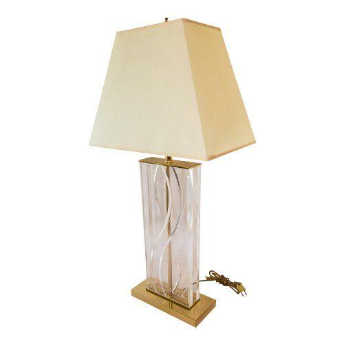 Vintage Lucite Table Lamp C 1950 Greta S Decorative Antiques