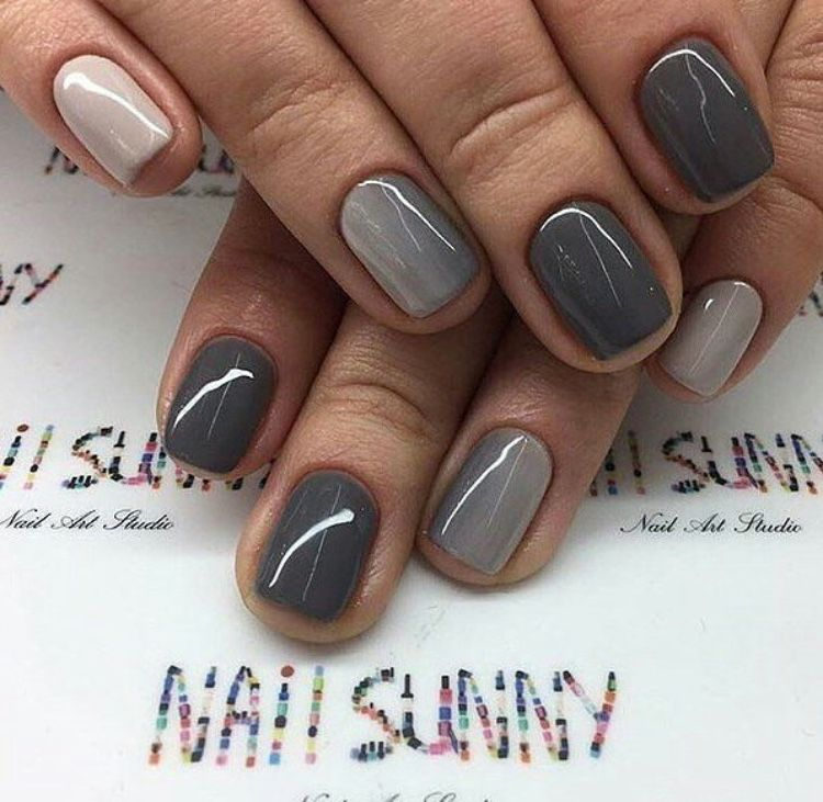 Pin by Angela Stratton on Nails & Toes | Pinterest | Gray nails ...