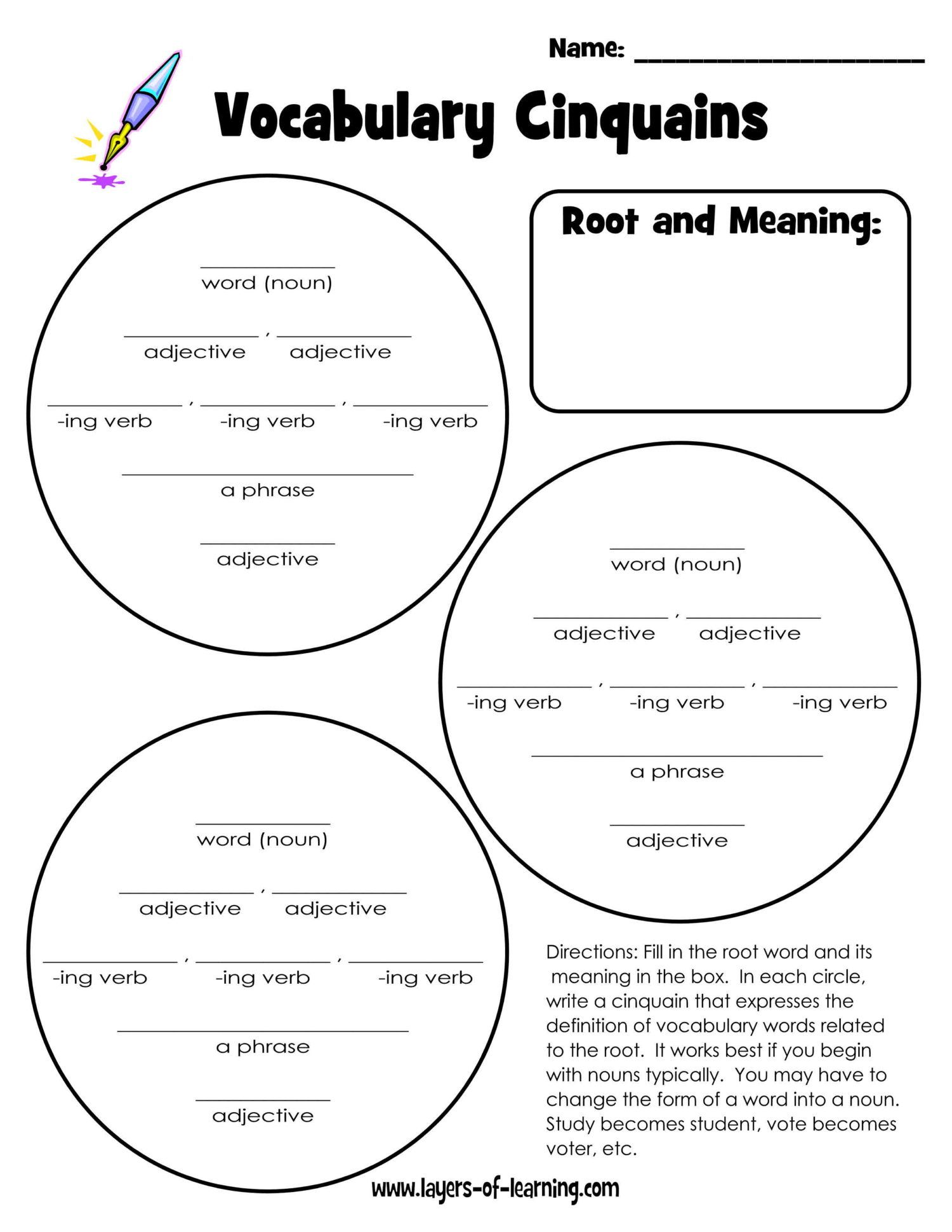 Learning Word Roots Activities And Printables