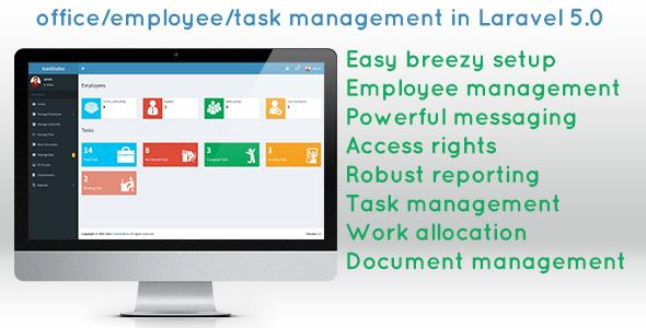 Office/employee/task management script in laravel 5 0 | PSD