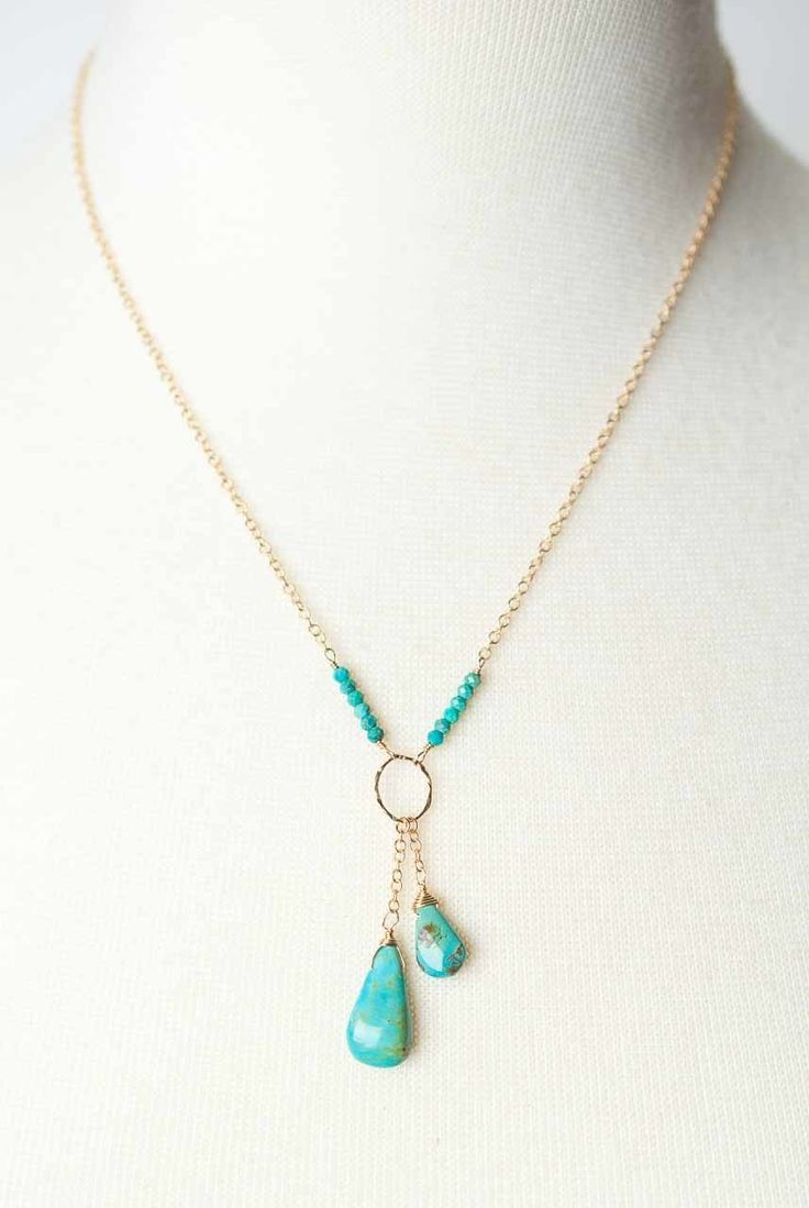 Cody  8217s Call 17 19  8243 Turquoise Briolette D+#Briolette