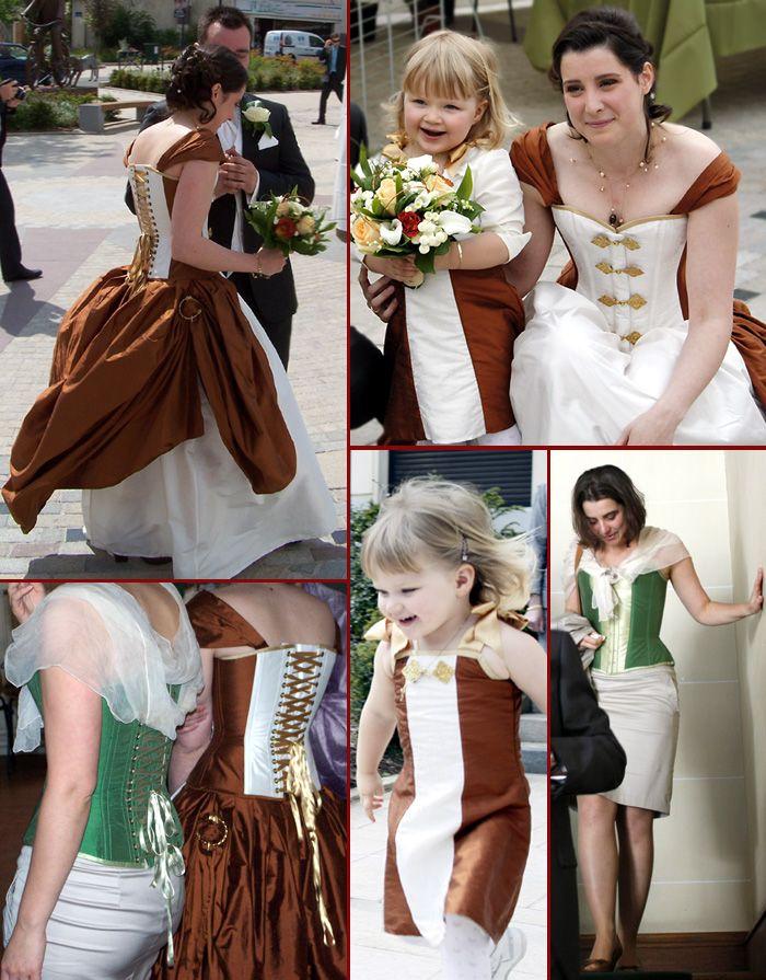 Robe De Mariee Originale Baroque Creme Or Steampunk Chocolat Corset Victorien Volute Orl Ans