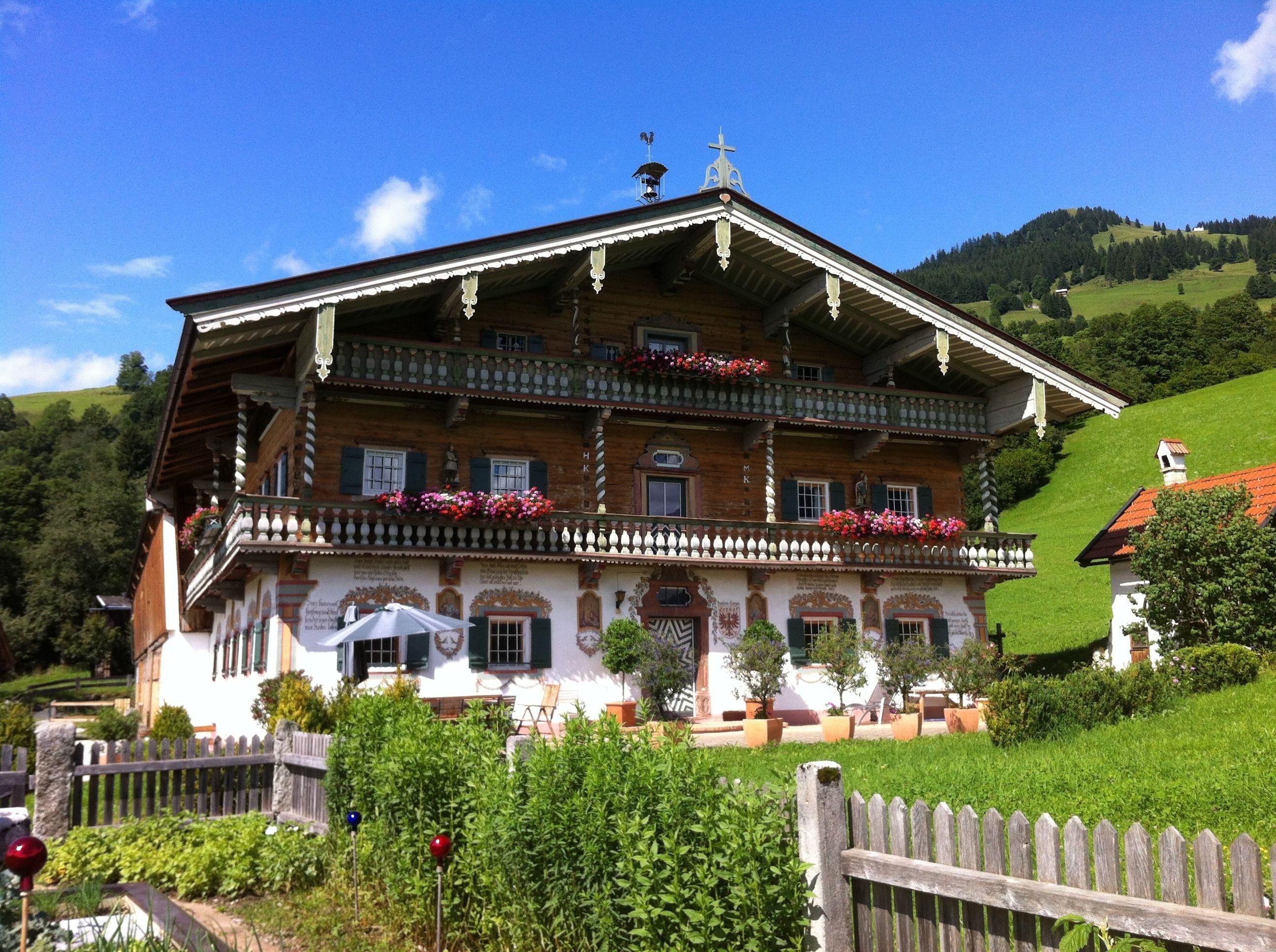Discover Traditional Architecture In Kitzbuehel Tirol Austria