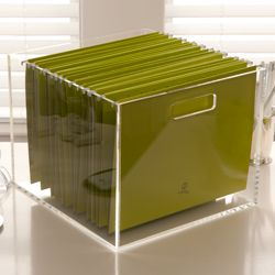 Lucite File Box From See Jane Work Home Office