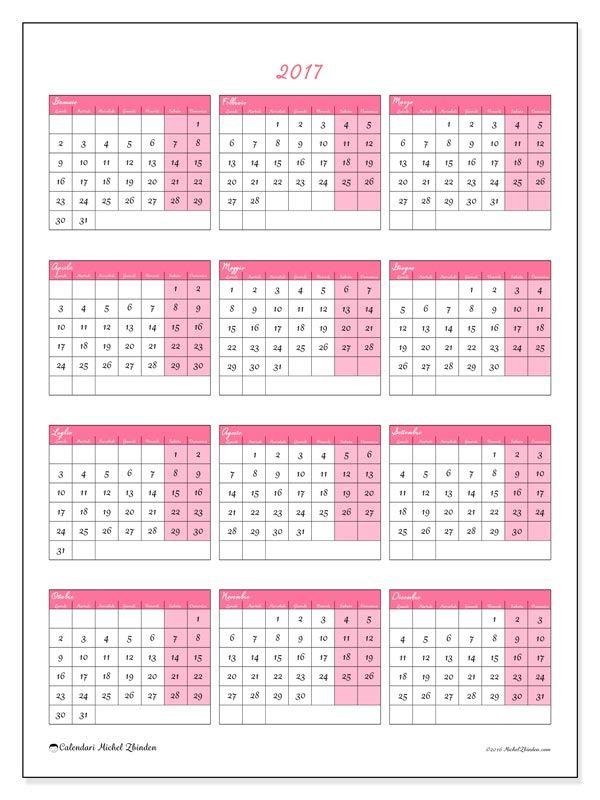 Favorito Gratis! Calendari per 2017 da stampare | Disegni di paesaggi  KP44