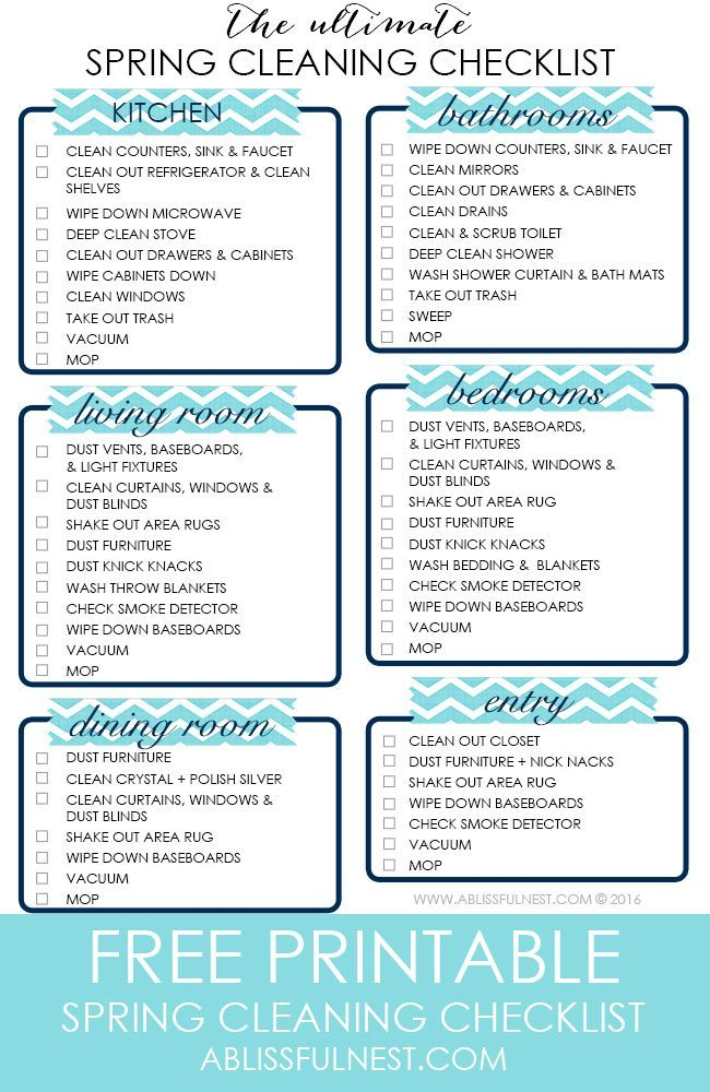 your ultimate spring cleaning checklist to help you