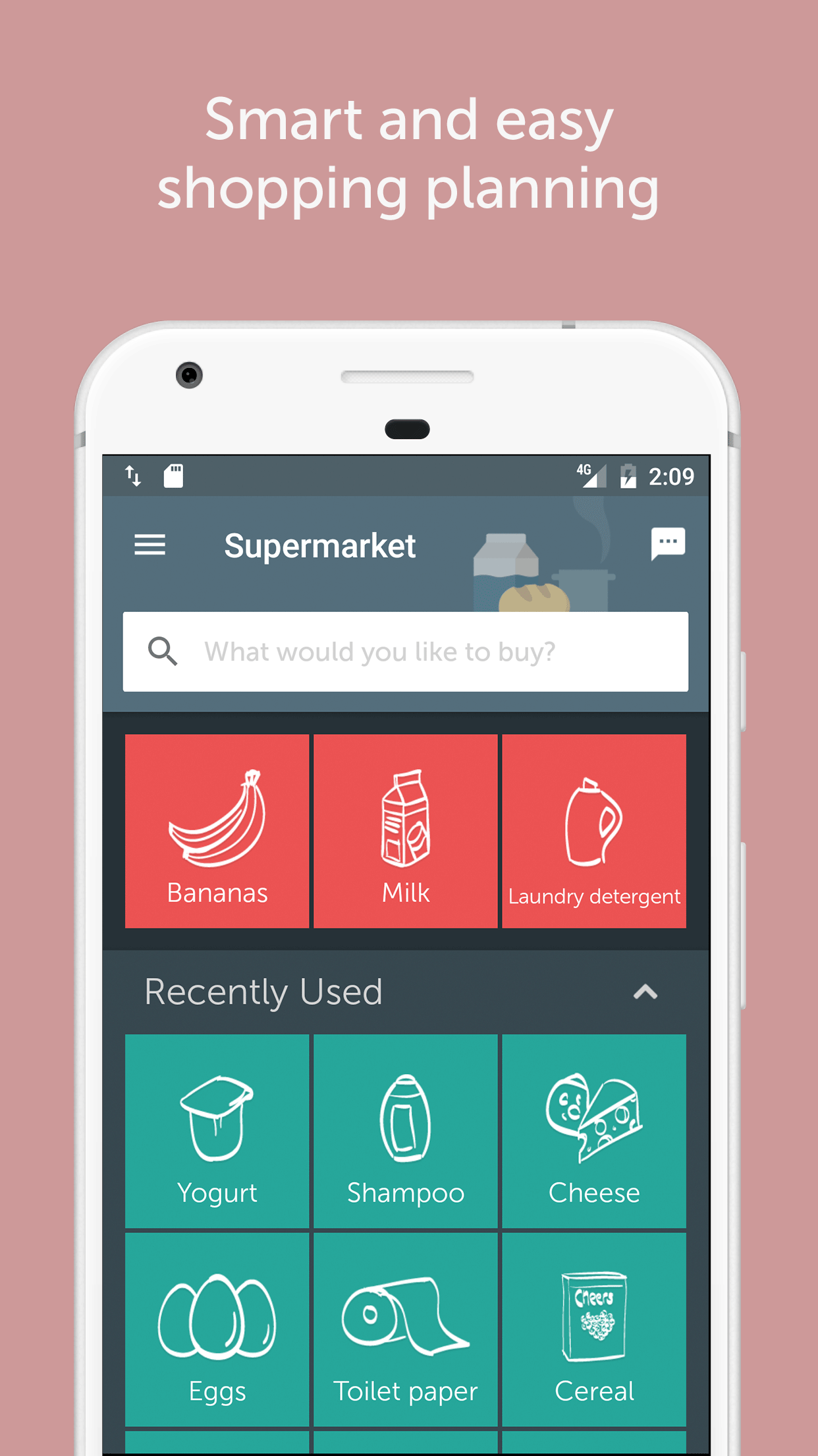 smart and easy shopping planning grocery shoppinglist app grocerylist recipes