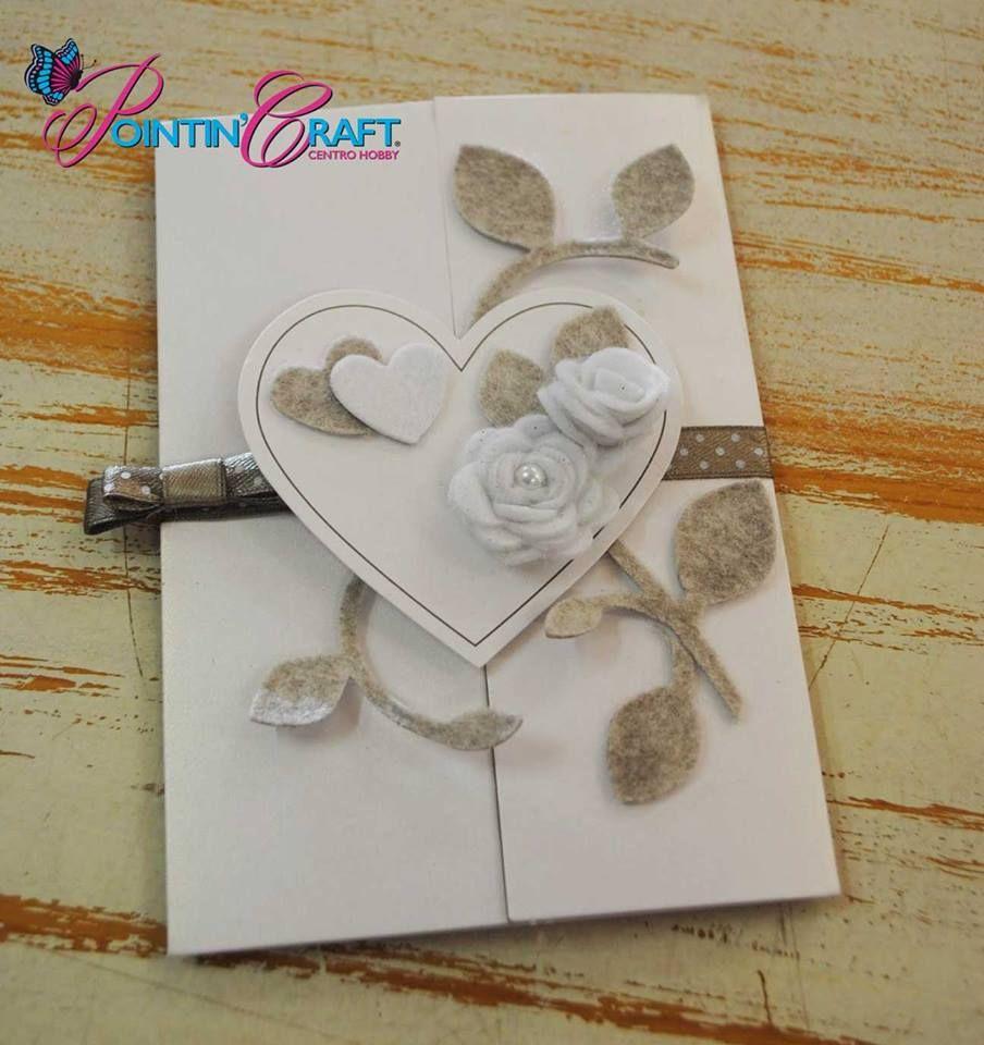 http://www.pointincraft.eu/it/ #creazioni #creazione #progetti #progetto #matrimonio #cuore #cuori #rose #rosa #bigliettodipartecipazione #pointincraft