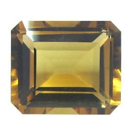 10.39 ct Emerald Cut Citrine Brownish Yellow -Gold Crane & Co. - Gold Crane & Co.