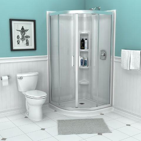 Axis 38 Curved Shower Door American Standard Corner Shower Corner Shower Kits Shower Doors