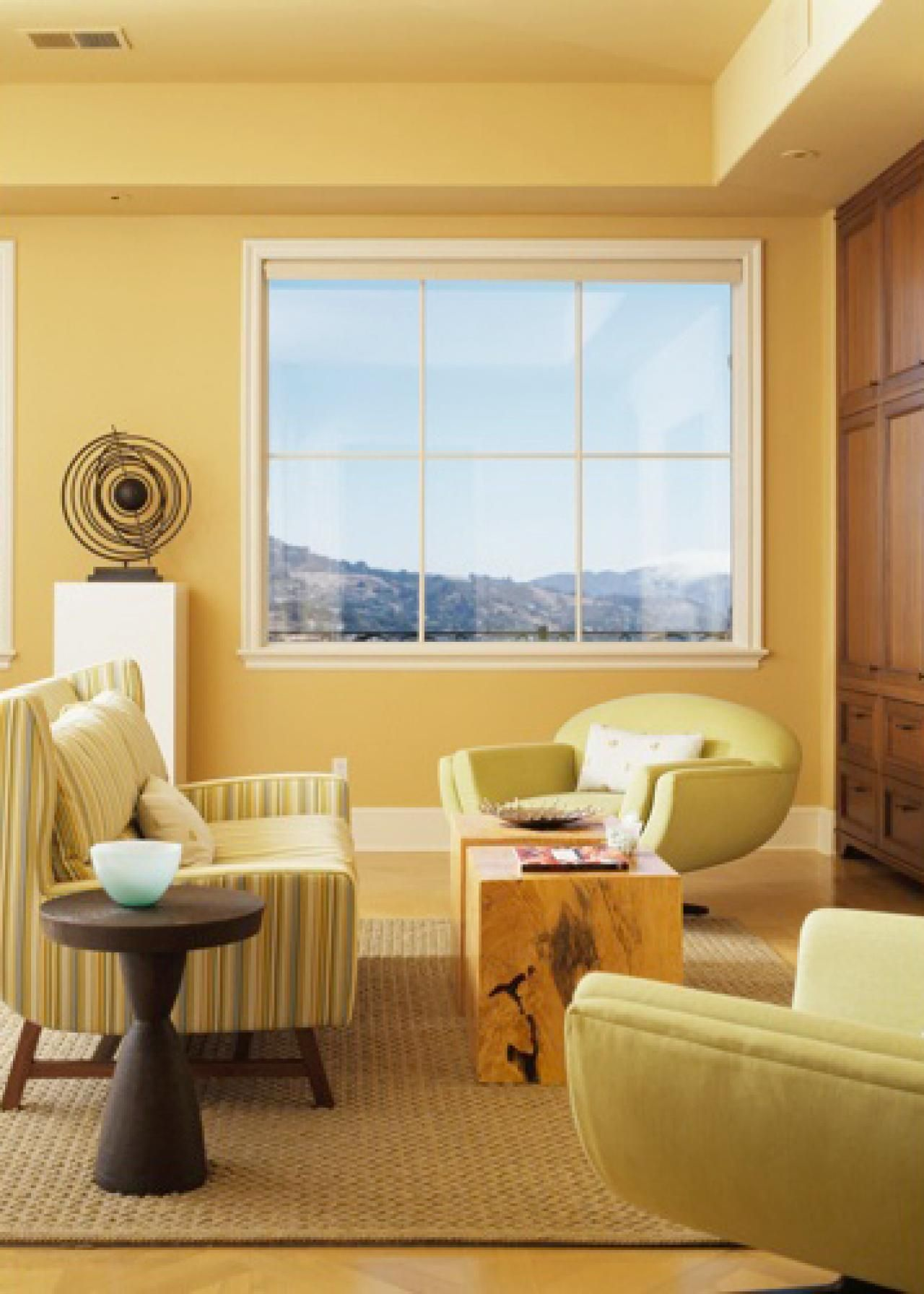Millerstevenyellowlivingroomrendhgtvcom12801792 Unique Yellow Living Room Chairs Design Inspiration