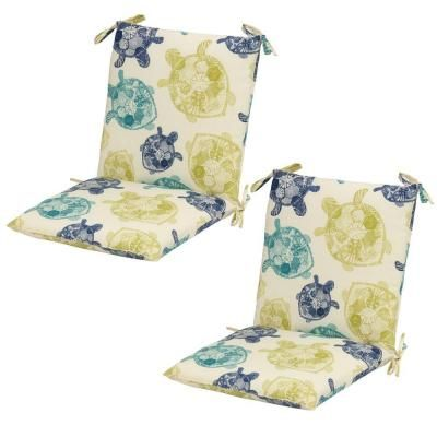 mid back outdoor dining chair cushion