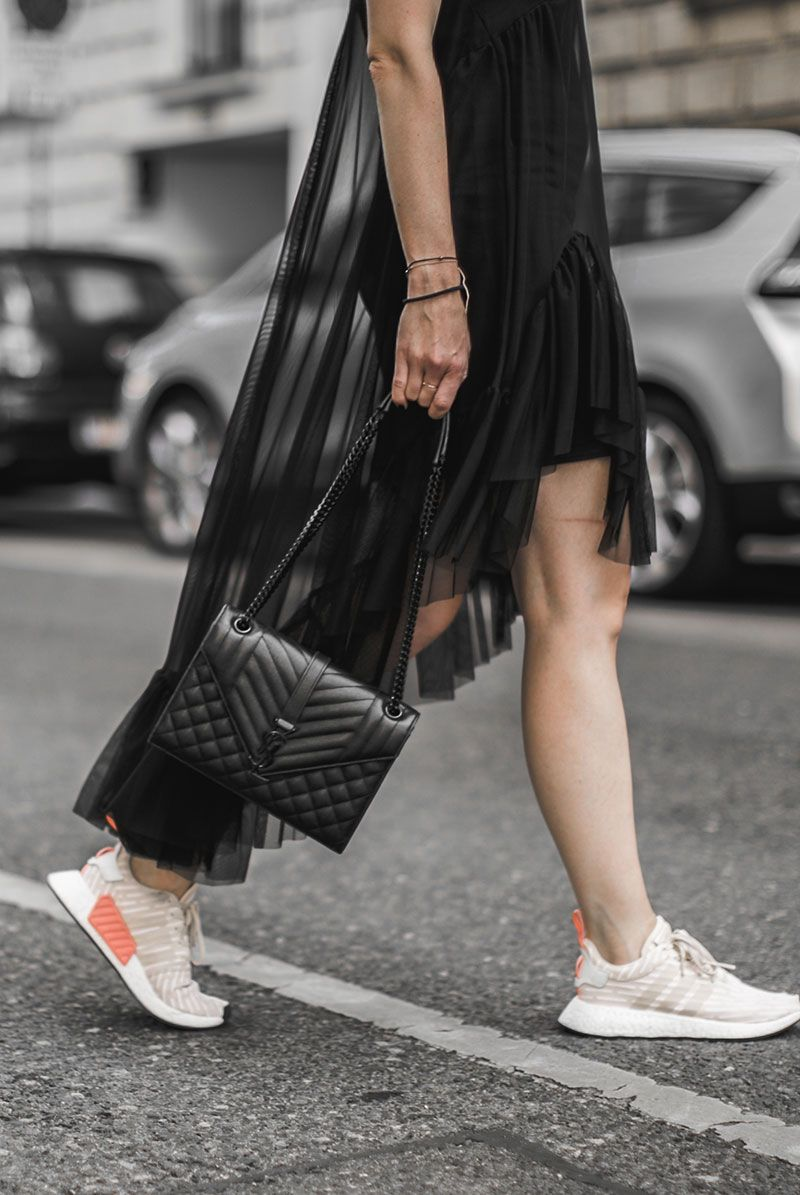 sheer dress & adidas nmd r2 roller knit | Adidas nmd, Saint