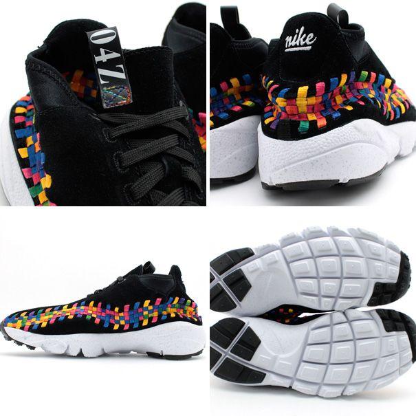 new arrival f28c6 3581c Nike Air Footscape Woven Chukka - Black  Rainbow  Sole Collector  burnwilliams