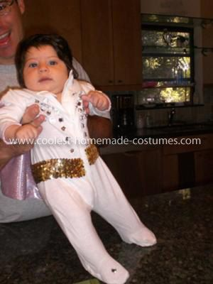 Homemade Baby Elvis Costume I wanted an original costume for my 4 month old daughter for her first Halloween. I wanted to take advantage of her full head ...  sc 1 st  Pinterest & Cool Homemade Baby Elvis Costume | Elvis costume Homemade baby and ...