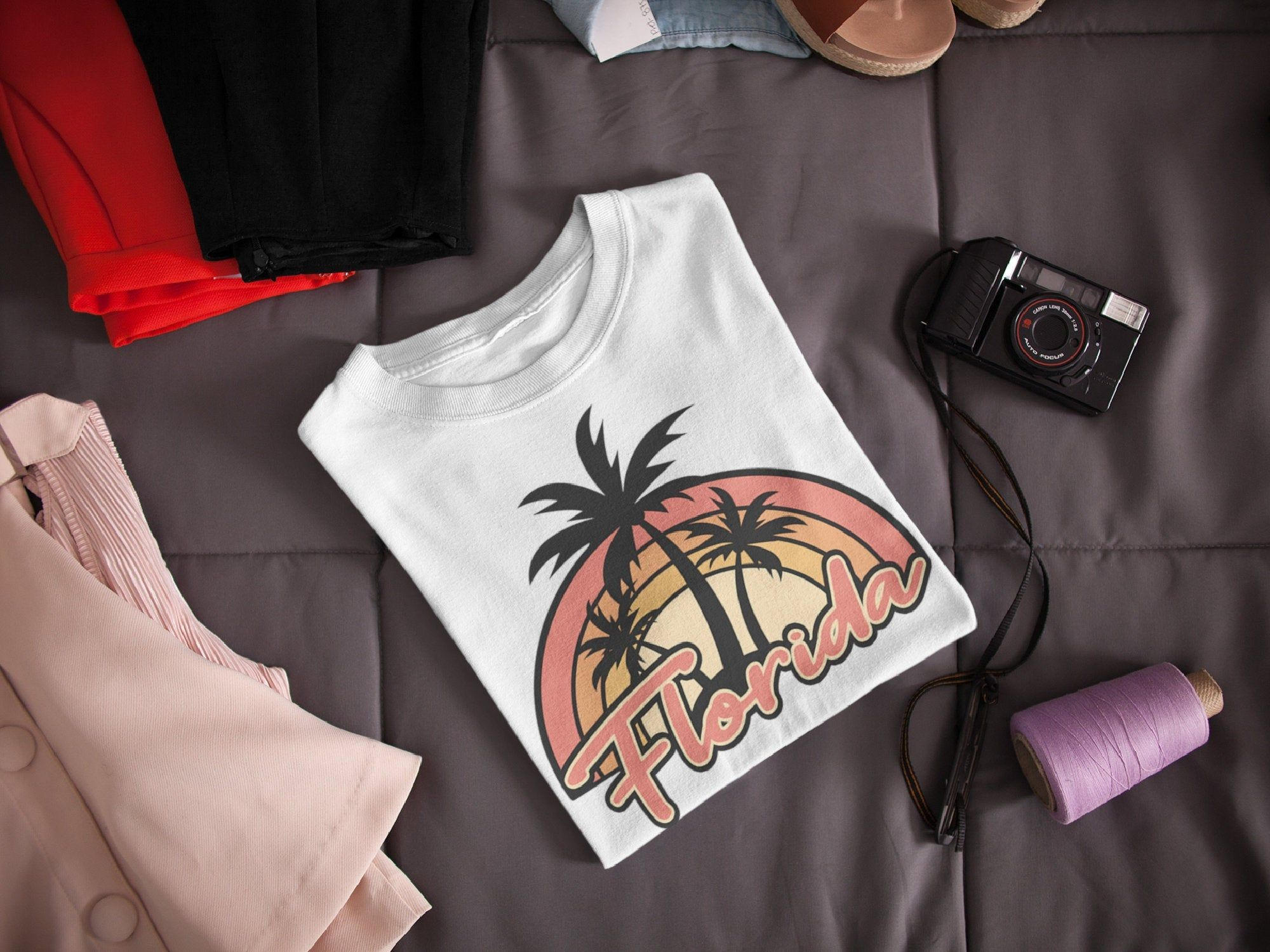 Florida Sunset Beach T Shirt 3 Versions Print Your Own At Home