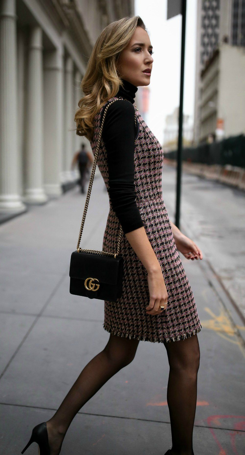 30 Dresses In 30 Days Client Meeting Tweed Fit And