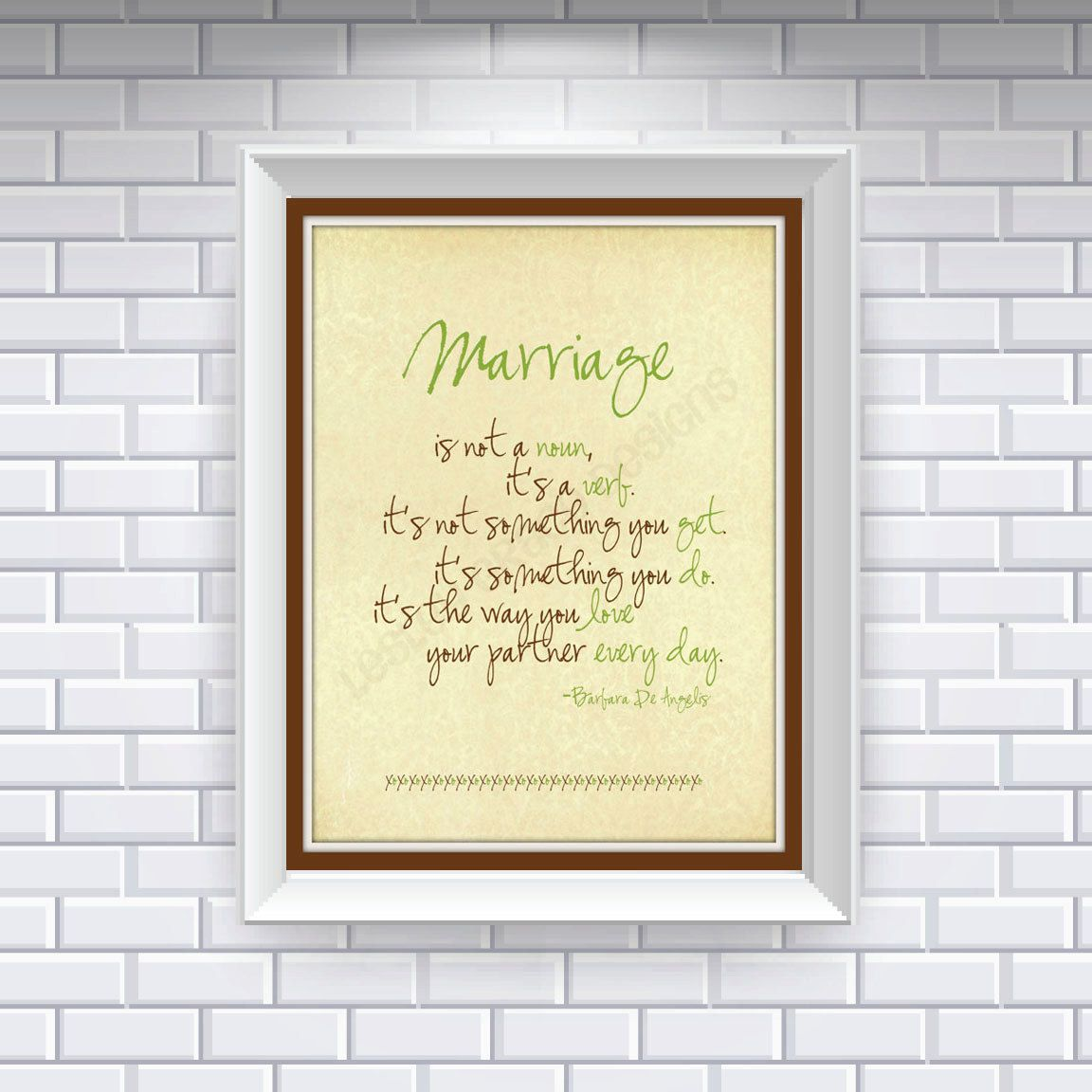 Marriage, Typography Art, 8x10 digital print. $15.00, via Etsy. - I've seen this written before but about the word LOVE... - either way I love it!