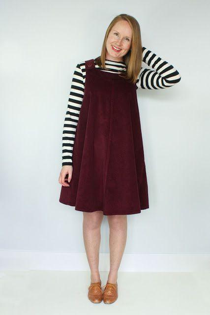 Introducing The Ivy Pinafore Dress Sewing Pattern (Jennifer Lauren ...