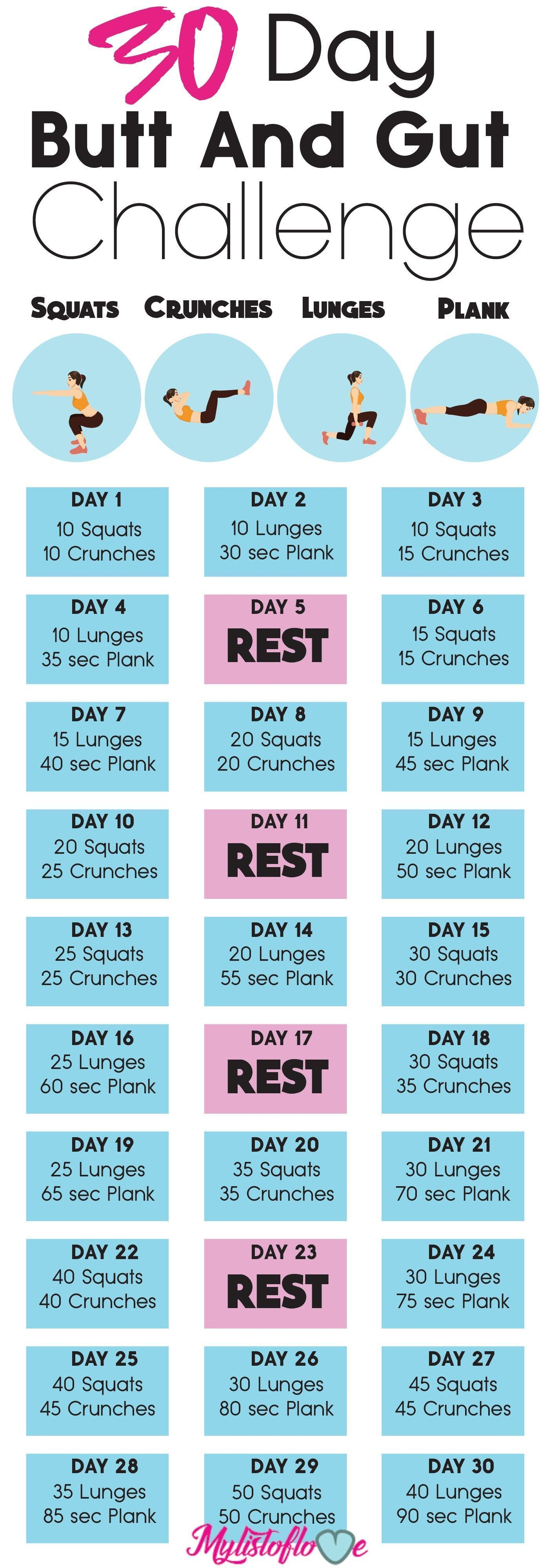 Health fitness, 30 day fitness, Fitness, Workout plan, Exercise, Workout challen...,  #challen #Day...