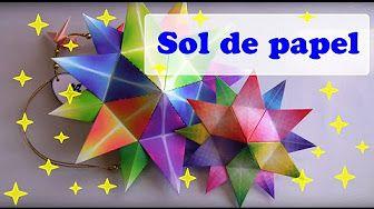 SOL 24 RAIOS MULTICORES - ORIGAMI - YouTube