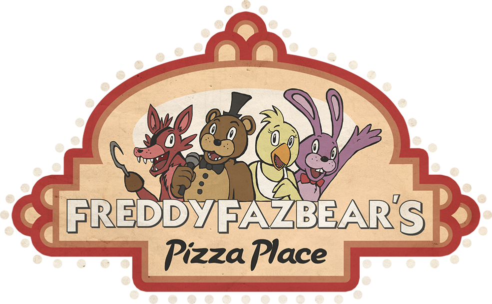 Freddy Fazbear S Pizza East And West Cybersland Logofanonpedia Fandom Freddy Fazbear Freddy Pizza Place