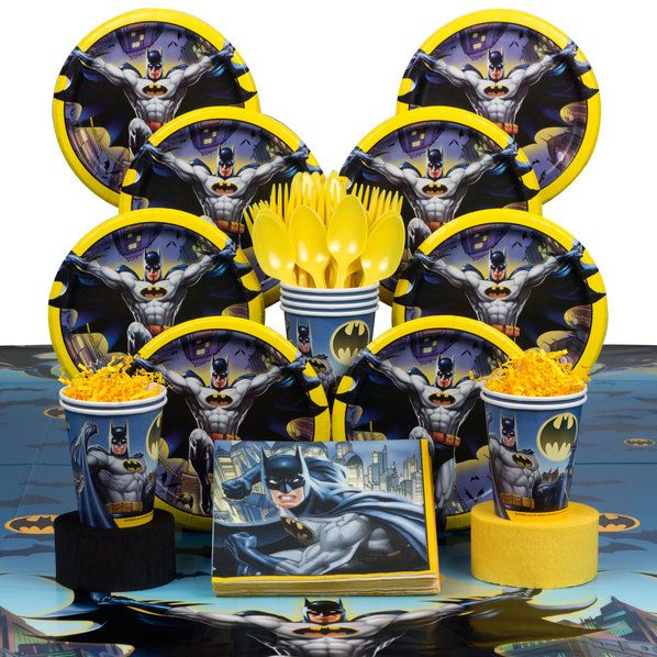 Check out Find Batman Deluxe Tableware Kit (Serves 8) and other Birthday…