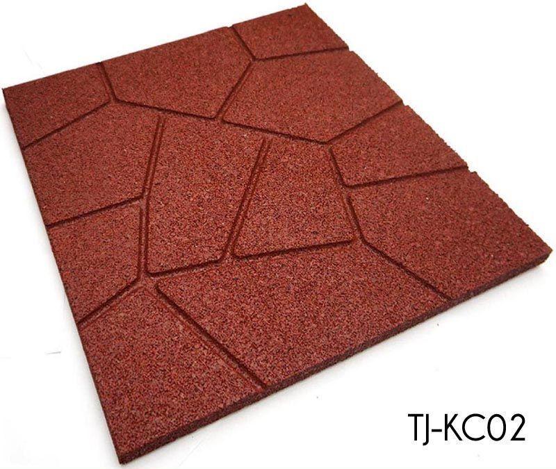 50cm*50cm Playground Rubber Floor Tile Sidewalks Outdoor