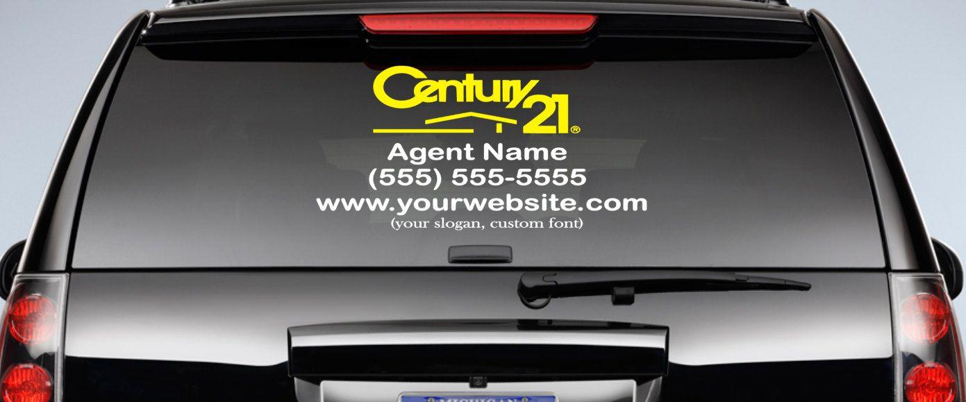 Car Real Estate: Century-21-Custom-Real-Estate-Advertisement-Car-Decal