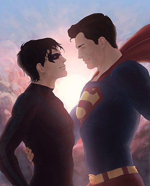 Nightwing & Superman. ♥