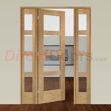 Easi Frame Oak Door Set Gosha4l Coeop21 2005mm Height 1452mm Wide Oak Doors Internal Glass Doors Room Divider Doors