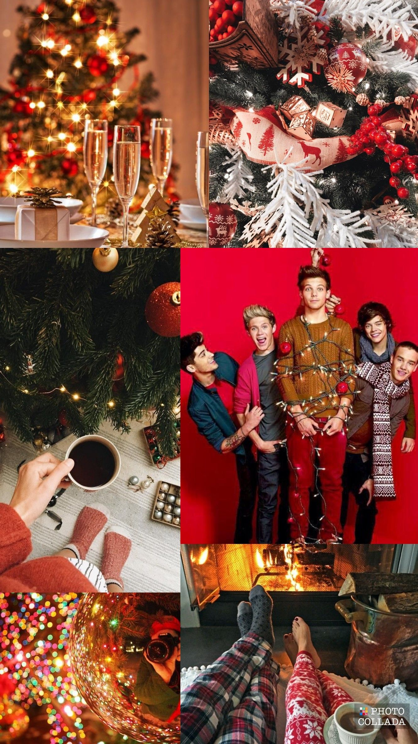 One Direction christmas lockscreen ig luvmytomo