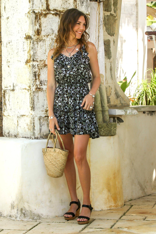Floral Printed Rayon Short Sundress from Bali, 'Venus Flowers' #shortsundress Rayon short sundress, 'Venus Flowers' #Sponsored #short, #Affiliate, #Rayon, #sundress, #Flowers #shortsundress