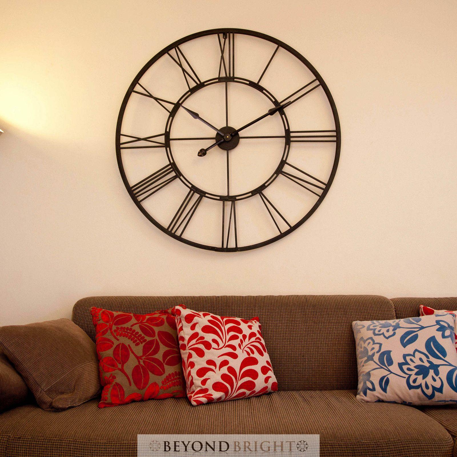 Bertha 101cm Wall Clock Industrial Clocks Large Wall Clock Wall Clock Industrial Clocks