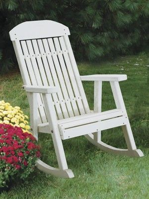 255 Poly Porch Rocker Hardwood Furniture Lawn Amish Dublin Ohio