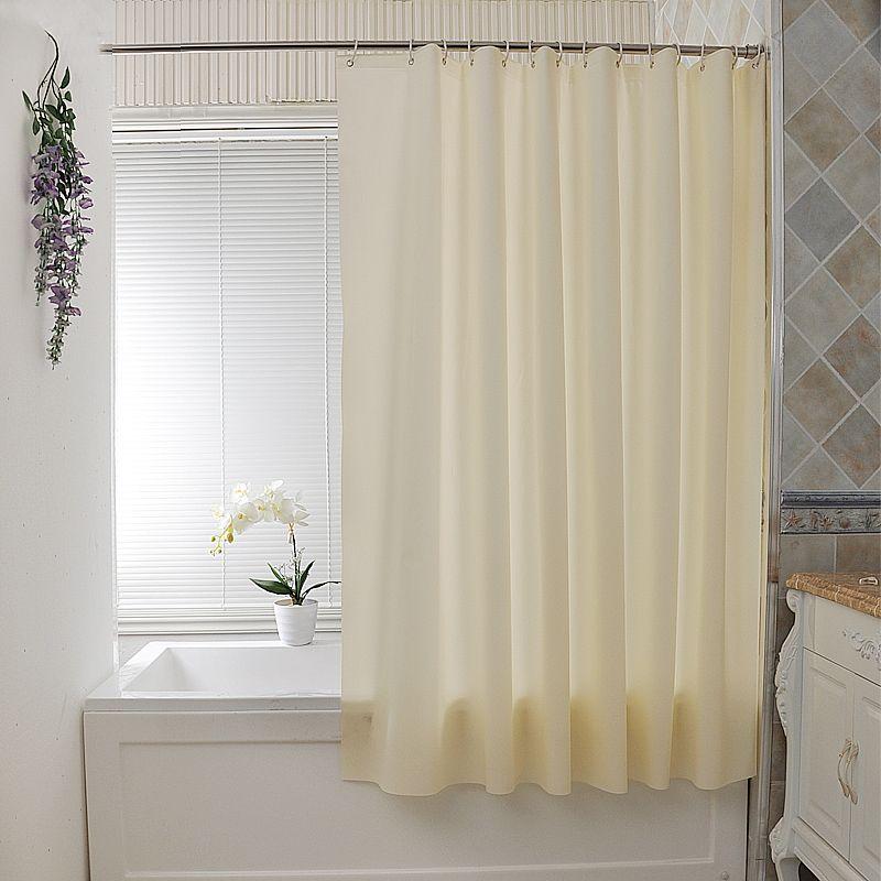 PEVA thick beige shower curtain waterproof mildew shower curtains ...