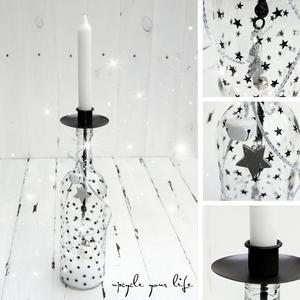 flaschen upcycling den passenden kerzenhalter f r flaschen findet ihr hier http sabrina. Black Bedroom Furniture Sets. Home Design Ideas