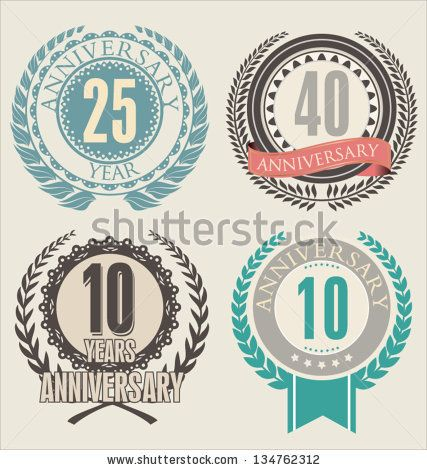 Anniversary laurel wreath by totally out, via ShutterStock