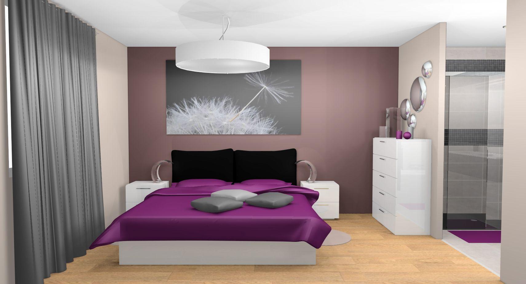 décoration chambre gris et prune  Décoration chambre gris, Idées