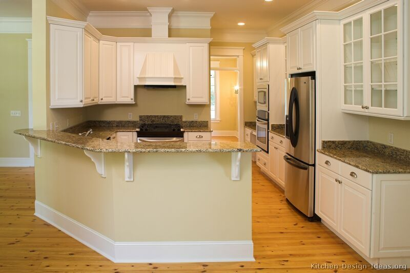 Traditional White Kitchen Cabinets Ideas: Traditional White Kitchen Cabinets #41 (Kitchen-Design