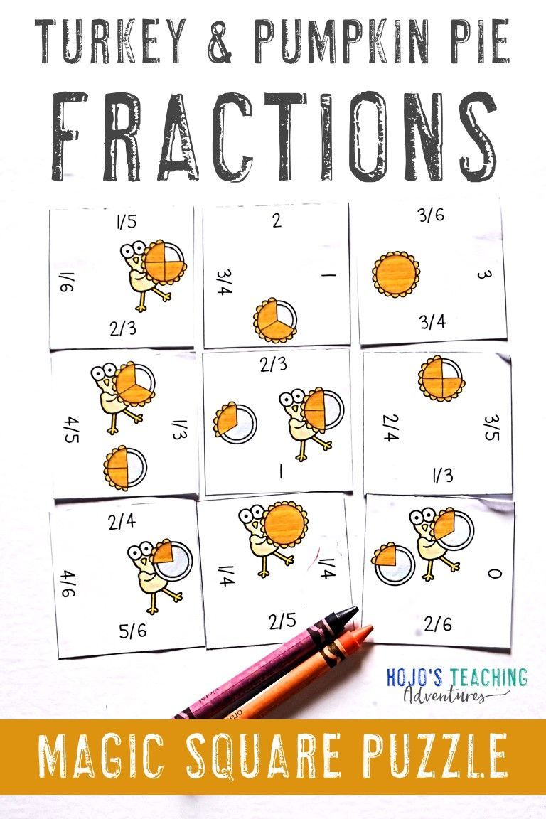 medium resolution of Use this turkey and pumpkin pie puzzle to help your 2nd and 3rd grade  classroom or homes…   Thanksgiving math worksheets