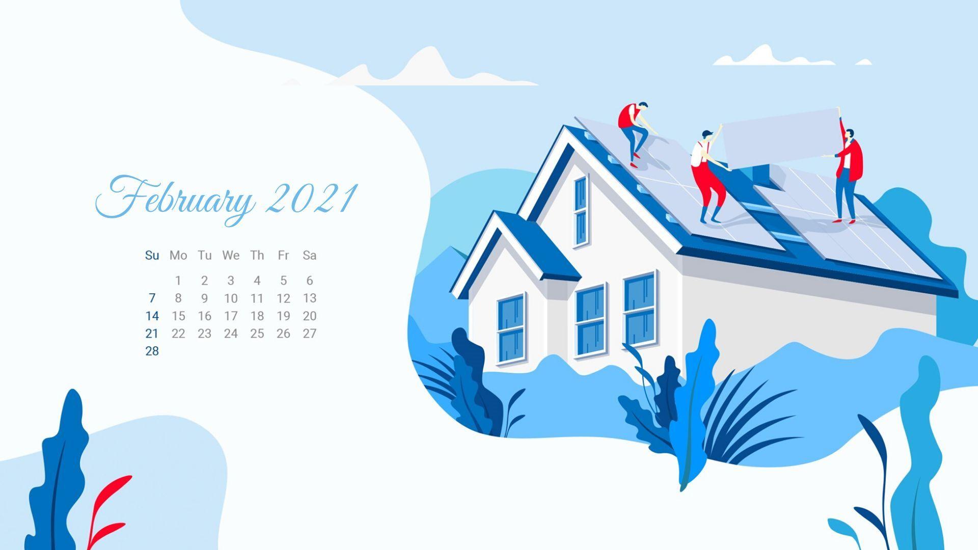 Calendar Desktop Wallpaper 2021 February 2021 Calendar Wallpaper   Calendar wallpaper, 2021