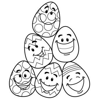 FREE Printable Easter Egg Coloring Page