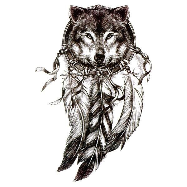 Wolf Dreamcatcher 2 Modele De Tatouage Loup Tatouage Loup