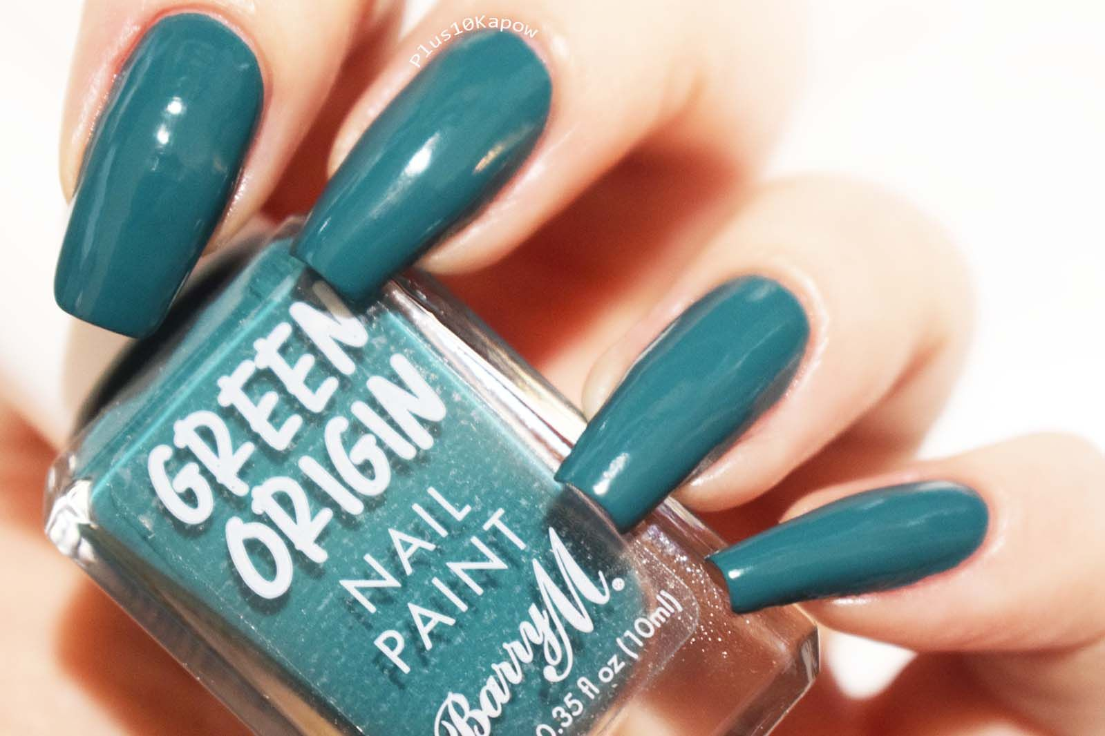 Barry M Green Origin Collection Swatches Plus10Kapow in